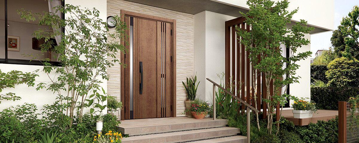 風を通すドアで玄関をさわやかに